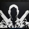 Hitman Agent 47 - Scratchboard