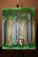 Link and Epona - Acrylic on Canvas