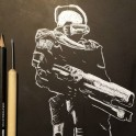 Master Chief - Scratch Board